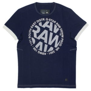G-STAR STYLE:AIDEN R T S/S POLICE BLUE COMPACT JERSEY