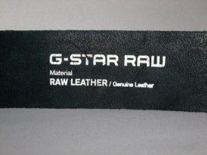 G-STAR STYLE:LEADGER BELT BLACK