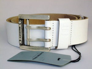 G-STAR STYLE:LEADGER BELT WHITE