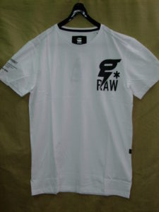 G-STAR RAW STYLE:Codar 2 rt s/s white Compact jersey