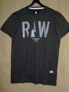 G-STAR RAW STYLE:Rightrex rt s/s Black htr NY jersey