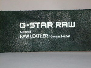 G-STAR STYLE:LEWIS BELT BLACK