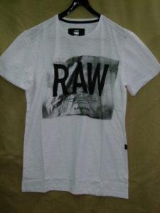 G-STAR RAW STYLE:Lenk 3 rt s/s white Jisoe jersey