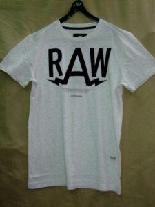G-STAR RAW STYLE:Marsh rt s/s milk htr NY jersey