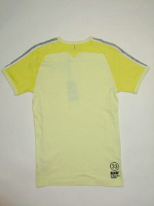 G-STAR STYLE:JAYDON R T S/S BLEACH YELLOW MICRO 1 BY 1 RIB