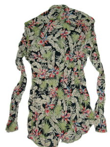 GAS ANDREW CORE/S MIX STRETCH FLOWER PRINT 0200 BLACK
