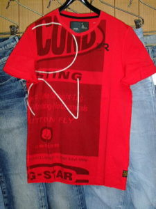 G-STAR STYLE:ODEON R T S/S CHINESE RED