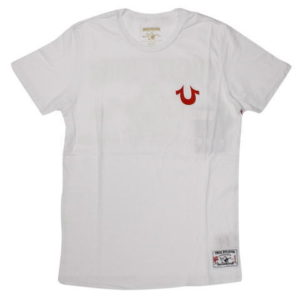 TRUE RELIGION STYLE:M648036B933C COLOR:WHITE SS CRW T HORSESH