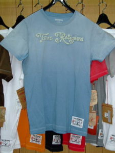 TRUE RELIGION STYLE:M648036B5 COLOR:SLATE BLUE SS CREW NECK T