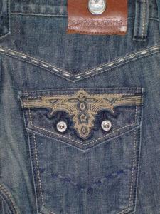 アンティークデニム 刺繍