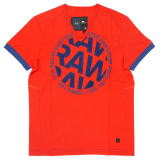 G-STAR T SHIRT STYLE:AIDEN V T S/S SCARLET COMPACT JERSEY