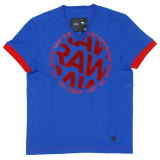 G-STAR T SHIRT STYLE:AIDEN V T S/S NASSAU BLUE COMPACT JERSEY