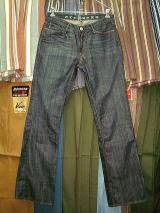EARNEST SEWN HUTCH 06 MAZ DARK BOOTCUT MADE IN U.S.A. 100%COTTON