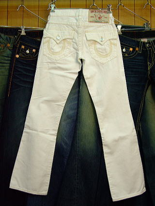 TRUE RELIGION RAINBOW BILLY BIG T STYLE 28858SM COLOR 1H WHT ZUMA W