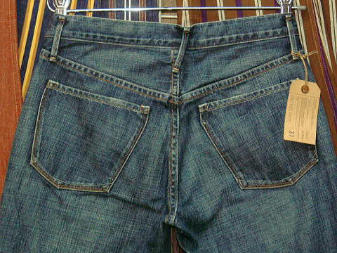EARNEST SEWN HUTCH 05 MILK BLUE BOOTCUT MADE IN U.S.A. 100%COTTON