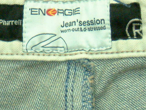 ENERGIE Pharrell trousers STYLE 9B4R SIZE WASH QK ART.0451 COL.0995 3987 MADE IN ITALY 100%COTTON