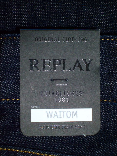 REPLAY WAITOM REGULAR STRAIGHT SLIM REGULAR STRAIGHT SLIM JEANS 36
