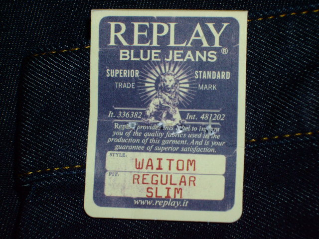 REPLAY WAITOM REGULAR STRAIGHT SLIM REGULAR STRAIGHT SLIM JEANS 33
