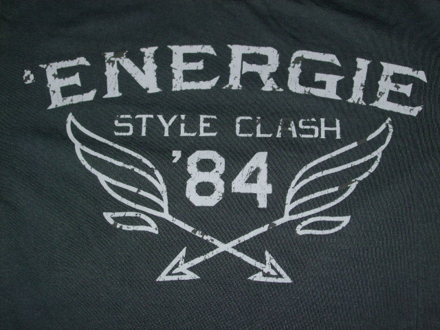 ENERGIE LANG T-SHIRT STYLE.5E1900 SIZE.M WASH.L00F90 ART.JE9B58 COL.G06001 OEU100 100%COTTON MADE IN MOLDOVA