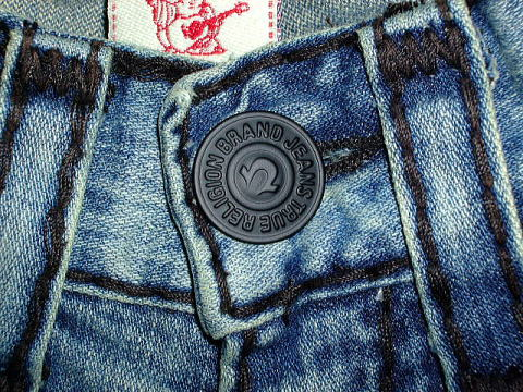 TRUE RELIGION JOEY SUPER T STYLE 24803BKT2 COLOR 55 COWBOY DESTROYED