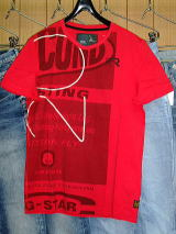 G-STAR T SHIRT STYLE:ODEON R T S/S CHINESE RED COMPACT JERSEY