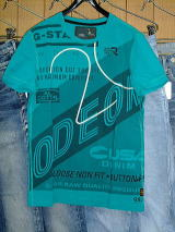 G-STAR T SHIRT STYLE:ODEON R T S/S MIAMI GREEN COMPACT JERSEY