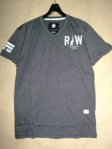 G-STAR RAW STYLE:Brickal vt s/s ART:D01317 2757 390 COLOR:black htr FABRIC:NY jersey