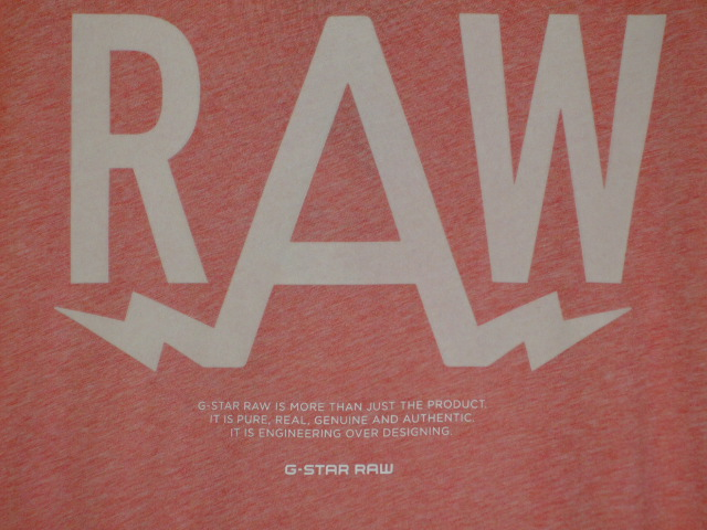 G-STAR RAW STYLE:Marsh rt s/s ART:D01655 2757 2129 COLOR:flame htr FABRIC:NY jersey