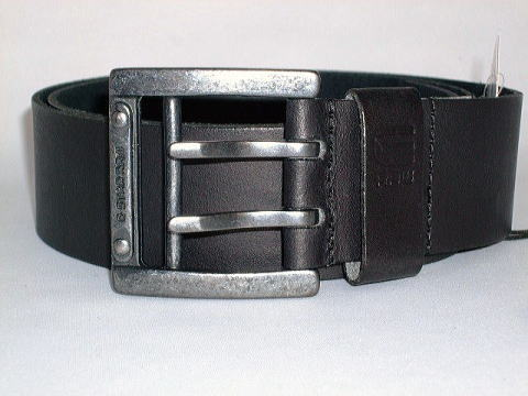 G-STAR BELT STYLE:LEADGER BELT BLACK NEVADA LEATHER