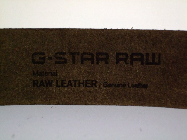 G-STAR BELT STYLE:RHAMES BELT DK BROWN ARIZONA LEATHER