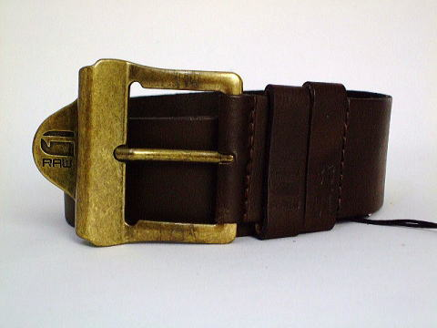 G-STAR BELT STYLE:LEWIS BELT DK BROWN ARIZONA LEATHER