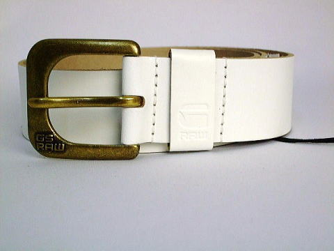 G-STAR BELT STYLE:ZED BELT WHITE NEVADA LEATHER