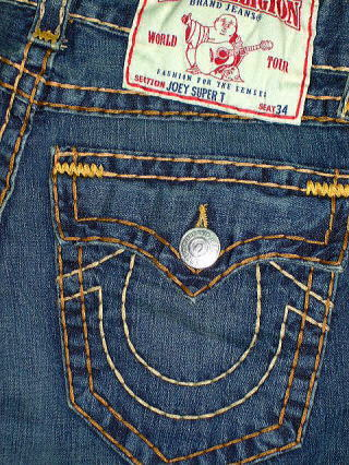 TRUE RELIGION JOEY SUPER T STYLE 24803BCET COLOR 2W STORM RIDER