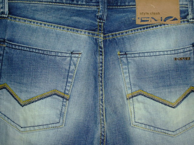 ENERGIE PEET TROUSERS 34 STYLE.9F1R00 SIZE WASH.LOOD11ART.DY0029 COL.F09950 PRD1908 MADE IN ITALY 100%COTTON
