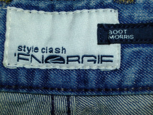 ENERGIE BOOT MORRIS TROUSERS SLIM FIT STYLE. SIZE. WASH. ART. COL. MADE IN MOROCCO 100%COTTON