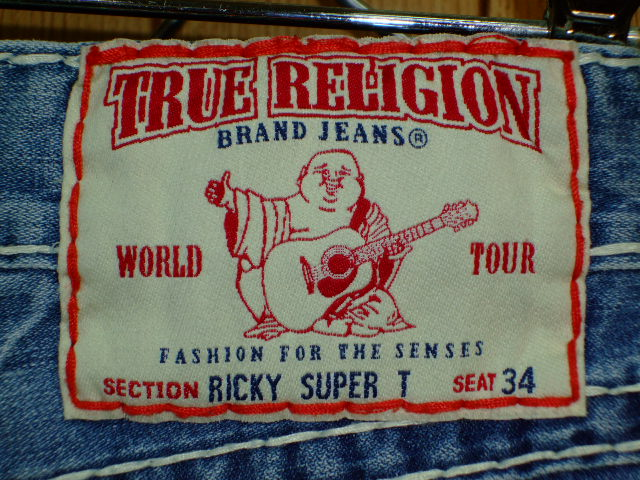 デニム0037 - TRUE RELIGION RICKY SUPER T STYLE:24859NBT2 COLOR:2V-MED DRIFTER MADE IN U.S.A. 100%COTTON