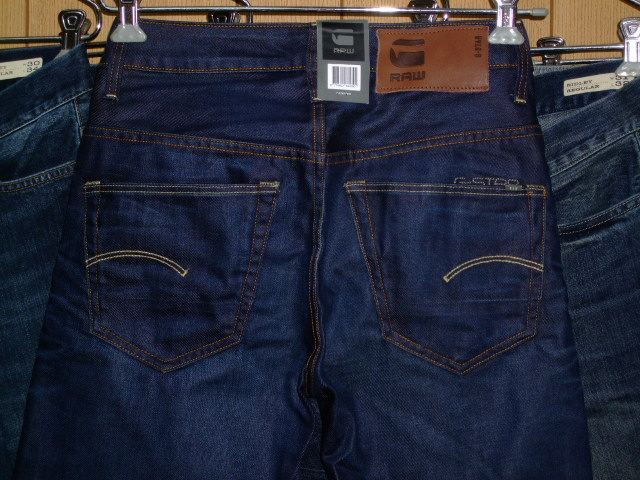 G-STAR RAW 3301 STRAIGHT HYDRITE DENIM DK AGED W27×L34