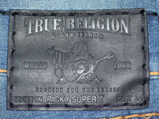 デニム0040|TRUE RELIGION RICKY SUPER T STYLE:M24859M32 COLOR:PKM-LOCOMOTIVE MADE IN U.S.A. 100%COTTON