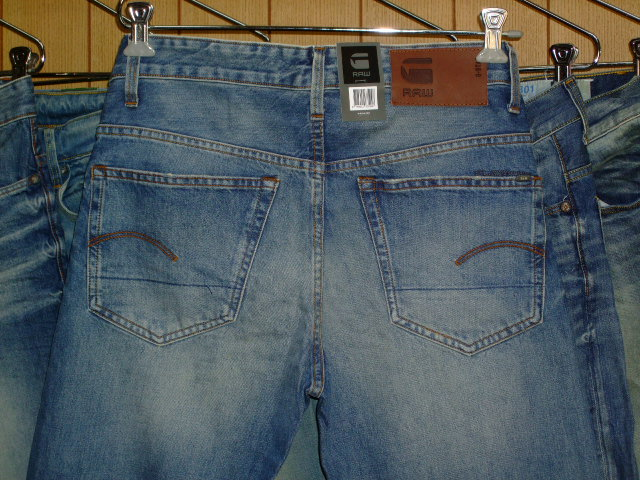 G-STAR RAW 3301 TAPERED REND DENIM CLR:DK AGED W31×L34