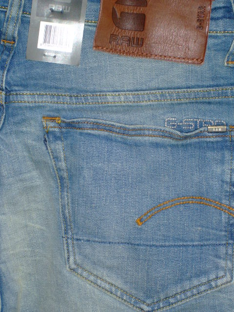 G-STAR RAW 3301 LOOSE CYCLO STRETCH DENIM LIGHT AGED W29×L34