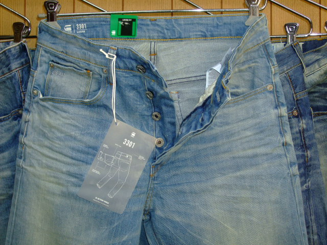G-STAR RAW 3301 CYCLO STRETCH DENIM LT AGED W29×L34