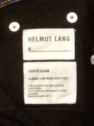 HELMUT LANG CLASSIC LOW WAIST BOOT CUT 29 100%COTTON MADE IN ITALY